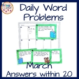 March Word Problems- Daily Problems