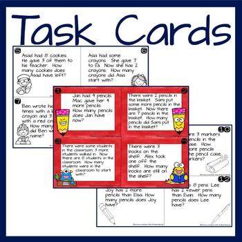 Kindergarten Wednesday Word Problems- September