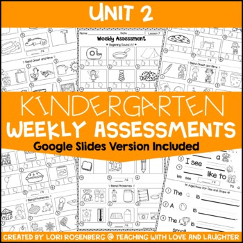 Weekly Assessments Unit 2 {For Use With Kindergarten Journeys}