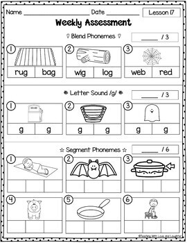 Weekly Assessments Unit 4 {For Use With Kindergarten Journeys}