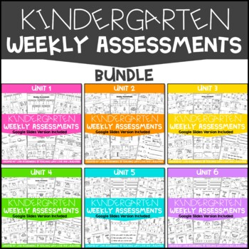 Weekly Assessments Bundle {For Use With Kindergarten Journeys}