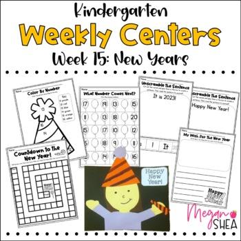 Kindergarten Weekly Centers Week 15 New Years Theme