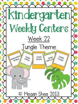 Kindergarten Weekly Centers Week 22 Jungle Theme