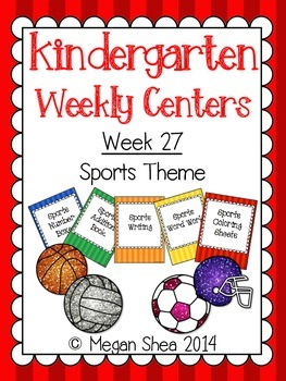 Kindergarten Weekly Centers Week 27 Sports Theme