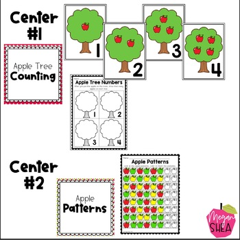 Kindergarten Weekly Centers Week 3 Apple Theme