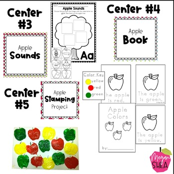 Kindergarten Weekly Centers Week 3 Apple Theme