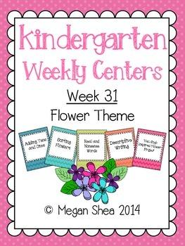 Kindergarten Weekly Centers Week 31 Flower Theme