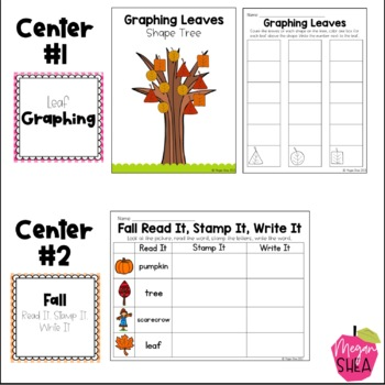 Kindergarten Weekly Centers Week 4 Fall Theme