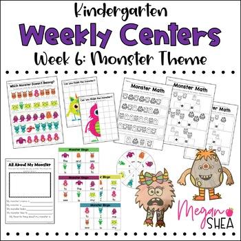 Kindergarten Weekly Centers Week 6 Monster Theme