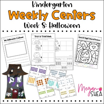 Kindergarten Weekly Centers Week 8 Halloween Theme