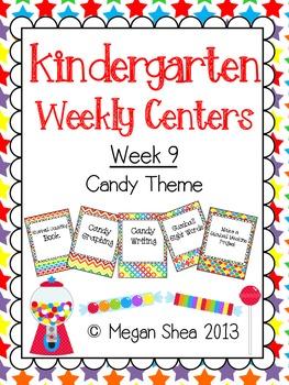 Kindergarten Weekly Centers Week 9 Candy Theme