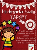 Kindergarten Weekly Editable Homework Newsletter