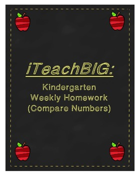 Kindergarten Weekly Homework (Compare Numbers)