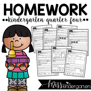 Kindergarten Weekly Homework {quarter four}