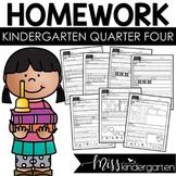 Kindergarten Homework Weekly Packets {quarter four}