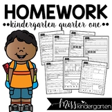 Kindergarten Weekly Homework {quarter one}