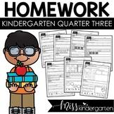 Kindergarten Homework Weekly Packets Quarter Three