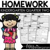 Kindergarten Weekly Homework {quarter two}