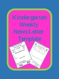 Kindergarten Weekly News Letter Template