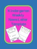 Kindergarten Weekly News Letter Template