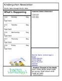 Kindergarten Weekly Newsletter