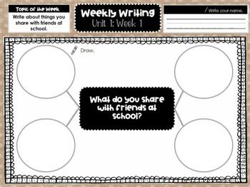 Kindergarten Weekly Writing (Unit 1, Week 1)