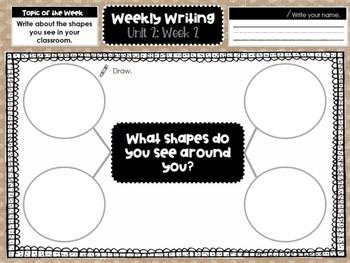 Kindergarten Weekly Writing (Unit 2, Week 2)