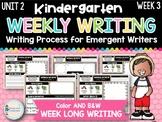 Kindergarten Weekly Writing (Unit 2, Week 3)