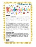 Kindergarten Welcome Letter EDITABLE