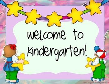 Kindergarten Welcome Pack Set- Star Theme