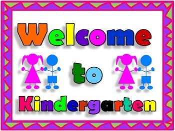 Kindergarten Welcome Sign