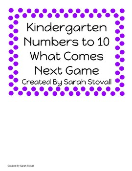 Kindergarten What Comes Next? Game
