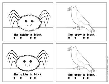 Kindergarten {What is Black?} Early Emergent Reader for Reading Workshop