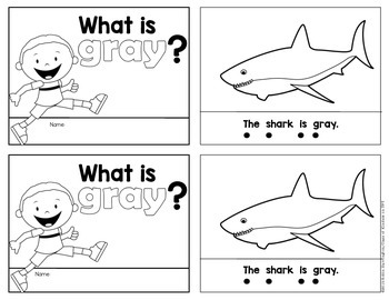 Kindergarten {What is Gray?} Early Emergent Reader for Reading Workshop