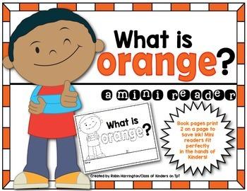 Kindergarten {What is Orange?} Early Emergent Reader for Reading Workshop