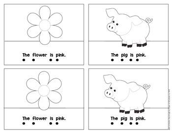Kindergarten {What is Pink?} Early Emergent Reader for Reading Workshop