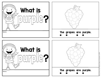 Kindergarten {What is Purple?} Early Emergent Reader for Reading Workshop