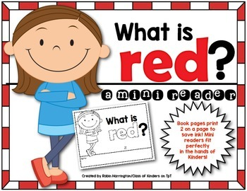 Kindergarten {What is Red?} Early Emergent Reader for Read