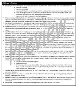 Kindergarten Whole Number Smart Notebook and Unit of Work Bundle 2