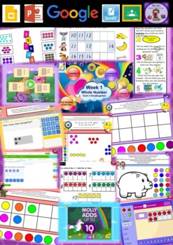 Kindergarten Whole Number Smart Notebook and Unit of Work Bundle 3