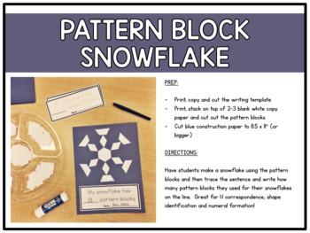 Kindergarten Winter Activities (Literacy + Math)