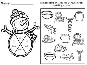 Kindergarten Winter Activities - Math and Literacy - No Prep