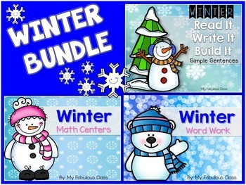 Kindergarten Winter Bundle