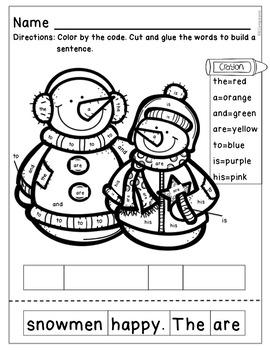 BUNDLE -- Kindergarten Math & Literacy [Winter Theme]