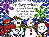 Kindergarten Winter CVC Activities