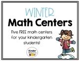 Kindergarten Winter Centers for Math