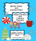 Kindergarten Winter ELA Literacy and Math Centers including ten frames
