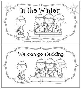 Kindergarten Winter Emergent Reader