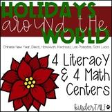 Kindergarten Holidays Around the World Math and Literacy Centers
