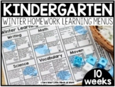 Kindergarten Winter Learning Menus | DISTANCE LEARNING GOO